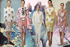 Christopher Kane SS13 // Collage by Annabel Marciano