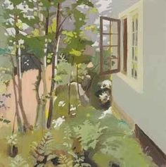 View Birch Trees by a Window By Fairfield Porter; 1968, oil on canvas; 36 x 36 in. (91.4 x 91.4 cm.); Signed; . Access more artwork lots and estimated & realized auction prices on MutualArt. Fairfield Porter, Garden Painting, Painting & Drawing, Abstract Landscape, Landscape Paintings, Landscapes, 20th Century Painters, Hereford, Contemporary Paintings