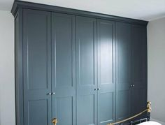 New Grey Painted Furniture Bedroom Farrow Ball Ideas Grey Painted Furniture, Fitted Bedroom Furniture, Fitted Bedrooms, Wardrobe Furniture, Wardrobe Doors, Bedroom Wardrobe, Blue Bedrooms, Wardrobe Closet, White Bedroom