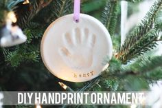 diy handprint ornament