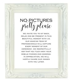No Pictures Pretty Please Printable by VividBlissPrintables