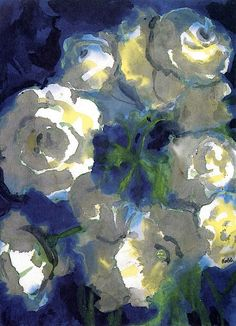 Painting: Emil Nolde, White Blossoms, n.d.
