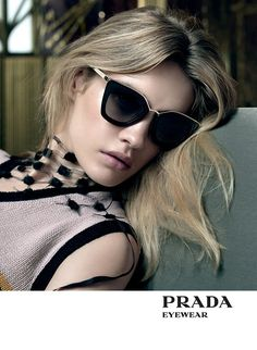 Smile: Ad Campaign: Prada Spring/Summer Natalia Vodianova, Sasha Pivovarova & Yasmin Wijnaldum by Steven Meisel Prada Cinema Sunglasses, Cat Eye Sunglasses, Sunglasses Women, Vintage Sunglasses, Celebrity Sunglasses, Italian Sunglasses, Natalia Vodianova, Fashion Brand, Love Fashion