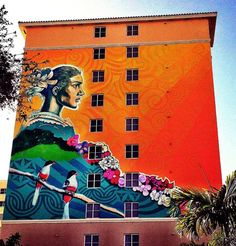 vimural.com  Collaborative mural by Cuban and American artists of Mother Earth — in Little Havana (via Street Art NYC)