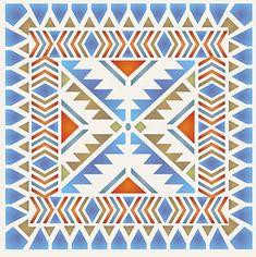 Navajo Blackrock Tile Stencil
