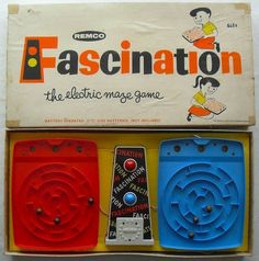 Do you like maze games? Then check out Fascination: The Electric Maze Game by Remco! Vintage Toys 1960s, 1960s Toys, Retro Toys, Vintage Stuff, Childhood Games, Childhood Memories, 1970s Childhood, School Memories, Sweet Memories