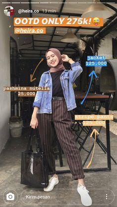 Modern Hijab Fashion, Street Hijab Fashion, Hijab Fashion Inspiration, Muslim Fashion, Ootd Fashion, Korean Fashion, Fashion Outfits, Fashion Muslimah, Abaya Fashion