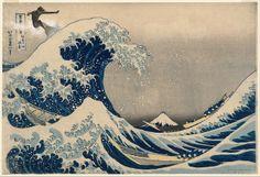 Katsushika Hokusa - Kanagawa oki nami ura collage