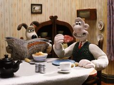 It's National Cereal Day! While Gromit likes cornflakes in the morning, Wallace is a toast and jam kinda guy.
