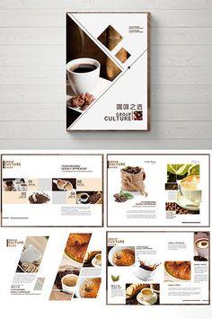 Simple and stylish coffee book Food Web Design, Menu Design, Layout Design, Leaflet Design, Booklet Design, Brochure Food, Brochure Design, Food Catalog, Company Profile Design