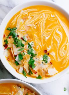 Thai Curry Butternut Squash Soup #vegetarian - making this tonight for this rainy chilly day!