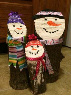 Snowman Variation on Santa logs