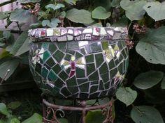 Mosaic dragonfly pot