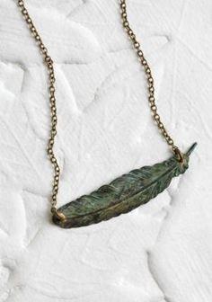 Fairway Feather Indie Necklace   Modern Vintage New Arrivals