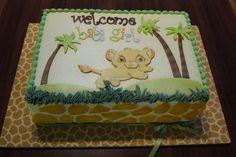 Lion King/safari themed baby shower sheet cake