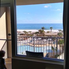 When the view from your balcony looks like this, do you hang out here ... or head down to the beach? 🌴   📷: Kurt Iler Pensacola Beach Hotels, Hanging Out, Balcony, Around The Worlds, In This Moment, Instagram, Balconies
