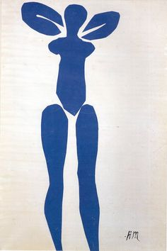 Henri Matisse-STANDING BLUE NUDE gouache and cut out paper 115.5 x 76.3 cm. Private Collection 1952