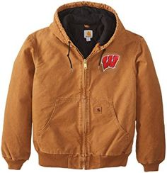 fc4a9ac35ef5 NCAA Wisconsin Badgers Men s Quilted Flannel Lined Sandstone Active Jacket  Review Wisconsin Badgers