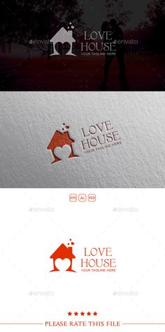 House  Logo Design Template Vector #logotype Download it here: http://graphicriver.net/item/house-logo/10498571?s_rank=1380?ref=nesto