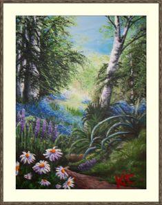 Secret Places Hanging Paintings, Artwork Display, Secret Places, Acrylic Art, Landscape, Canvas, Gallery, Videos, Art