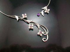 Innocence Bridal Necklace sterling torc wedding celtic fantasy special occasion on Etsy, $159.99