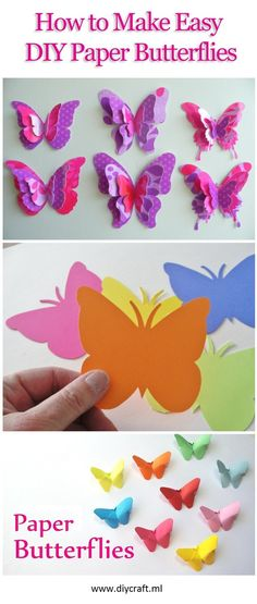Paper Butterflies Craft Easy Paper Butterfly Origami Diy Paper Crafts How To Mak. Paper Butterflies Craft Easy Paper Butterfly Origami Diy Paper Crafts How To Make Paper ⋆ craftte Origami Butterfly Easy, Paper Butterfly Crafts, Butterfly Party, Paper Butterflies, Origami Easy, Paper Flowers, Origami Paper, How To Make Butterfly, Easy Crafts