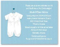 sweet boy christening invitations