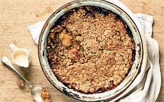 Stevie Parle's warming salted caramel crumble