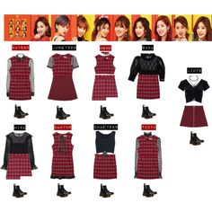 A fashion look from March 2017 featuring mini dress, long sleeve tops and velvet shirt. Browse and shop related looks. Kpop Fashion Outfits, Stage Outfits, Dance Outfits, Girl Outfits, Cute Outfits, Korean Girl Fashion, Korea Fashion, Women's Fashion, Kpop Costume