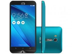 "Smartphone Asus ZenFone Go Live 16GB Azul - Dual Chip 4G Câm. 13MP + Selfie 5MP Tela 5.5"" HD"