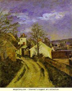 Paul Cézanne. Dr. Gachet's House at Auvers. Olga's Gallery.
