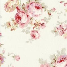 Durham Quilt Large Floral Cream by Lecien Cotton Fabric Yardage Decoupage, Space Crafts, Craft Space, Stash Fabrics, Waverly Fabric, Cabbage Roses, Cottage Interiors, Fabric Samples, Fabric Swatches