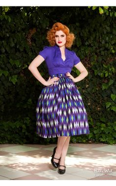 Laura Byrnes - Sean Top in Purple   Pinup Girl Clothing
