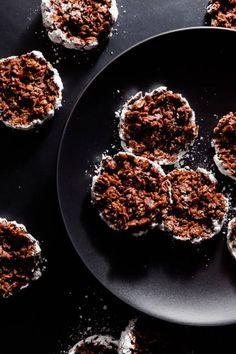 No Bake Crispy Chocolate Peanut Butter Bacon Cookies