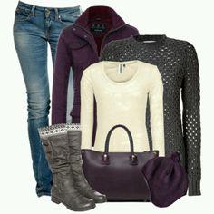 Purple and gray