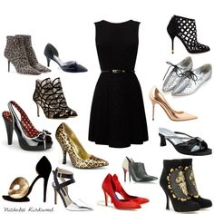 What better way to jazz up a #lbd #outfit than with a zillion #shoes?!