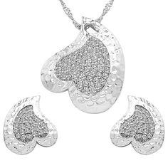 CZ Studded Brass Pendant, Earrings Set with Chain  #indianFashion #indianjewellery #love #pokemongoplus