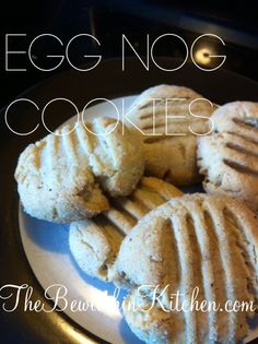 Egg Nog Cookies are perfect for Holiday baking. Create a batch and bring them to your next Christmas Cookie Exchange, perfect for Egg Nog lovers.