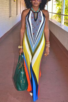 Summertime Sexy ~ Colorful long Yellow Dashiki african print dresses for women Traditional Clothing maxi dress vestido de festa African Print Dresses, African Dress, Style Africain, Look Girl, Creation Couture, Traditional Outfits, African Fashion, Beautiful Dresses, Ideias Fashion