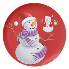 sc 1 th 225 & Holiday Plastic Plate-Christmas Garland Melamine Plate | Plastic plates