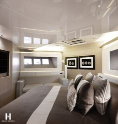 master bedroom, aslec 4 yacht by remi tessier _ | guest room, Innenarchitektur ideen