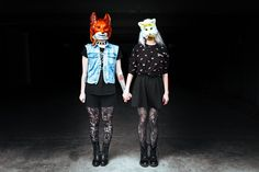 LET'S BE WEIRD TOGETHER #masked #shoot #empty20 #modapebune #tumblr #grunge #donniedarko #fox #rabbit #mask #animals Lets Be Weird Together, Donnie Darko, Grunge, Rabbit, Fox, Let It Be, Shit Happens, Lifestyle, Animals