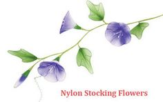 Handmade Nylon Morning Glory by New Sheer, via Flickr
