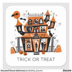 Halloween Doodle, Halloween Drawings, Halloween Stickers, Happy Halloween, Halloween Prints, Vintage Halloween, Halloween Haunted Houses, Halloween House, Holidays Halloween