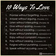 Parenting Kids and Children - Christian Articles, Advice, Bible Resources, Family. 10 Ways to Love someone - Bible Scripture ✞ - Christian Quote thought Christian Life, Christian Quotes, Christian Women, Christian Living, Christian Images, Christian Humor, Christian Music, Bible Scriptures, Bible Quotes