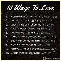 10 Ways to Love  Bible Study Tools