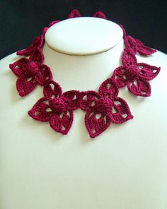 Make a #Crochet Necklace with the En Fleur Cowl Pattern! @stitchstory