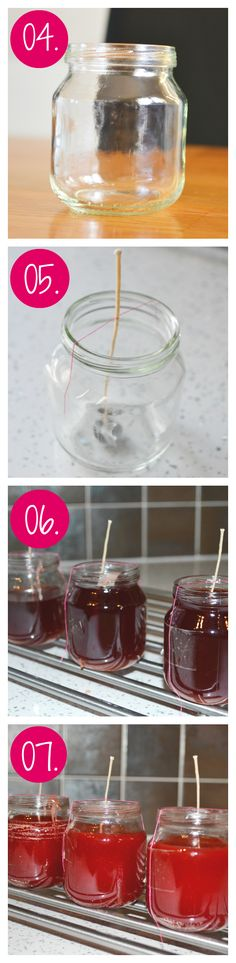 Learn how to Melt Your Old Candles and Make them into New ones!!! I upcycled some Used Baby Food Jars... Perfect size - Leannes Blog http://www.suggys.co.uk/Leanne