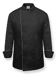 """THE CHEF"" Chef Coat-Black"