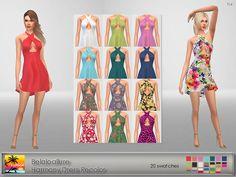 Belaloallure Harmony Dress Recolor at Elfdor Sims • Sims 4 Updates